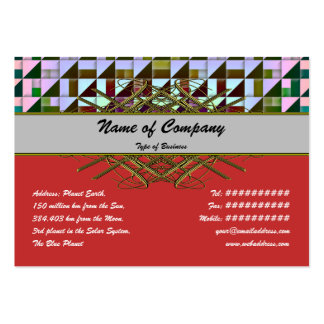 Triangles Business Card Templates
