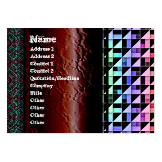 Triangles Pack Of Chubby Business Cards