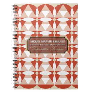 Triangles Circles Blossoms Cream White Notebook