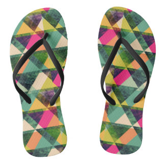 Triangles Colorful Flip Flops