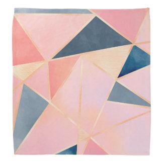 Triangles denim blue pink peach gold kerchief