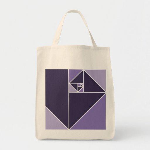 Triangles d'or de rapport sac en toile