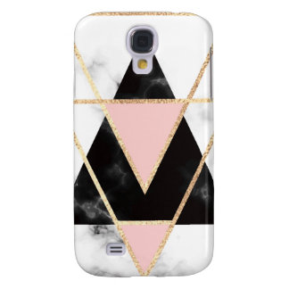 Triangles,gold,black,pink,marbles,collage,modern,t