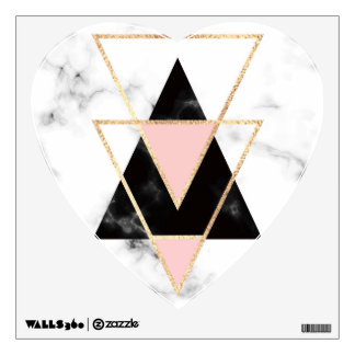 Triangles,gold,black,pink,marbles,collage,modern,t Wall Decal