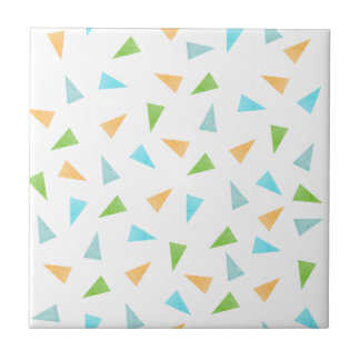Triangles in pastel colors, modern pattern tile