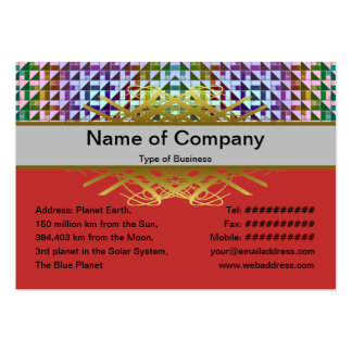 Triangles Inverted Alternate Business Card Templates