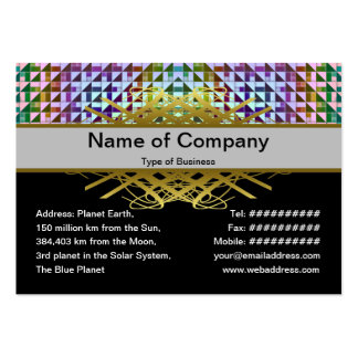 Triangles Inverted Alternate Large Business Cards (Pack Of 100)