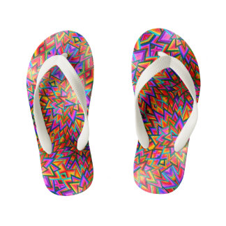 Triangles Kid's Flip Flops