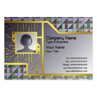Triangles Large Business Card