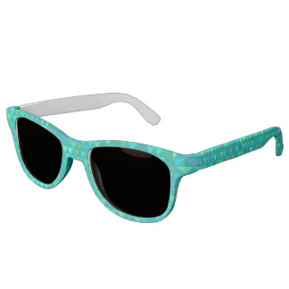 Triangles - Light Teal Sunglasses