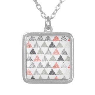 Triangles Square Pendant Necklace