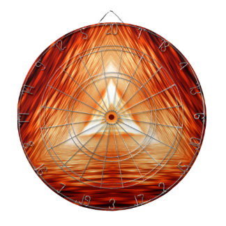Triangles of fire dartboard