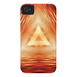 Triangles of fire iPhone 4 case