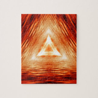 Triangles of fire jigsaw puzzle