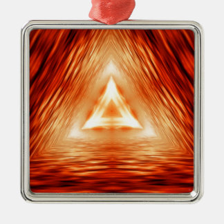 Triangles of fire metal ornament