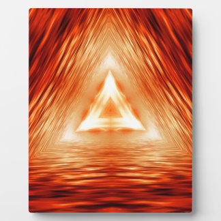 Triangles of fire plaque
