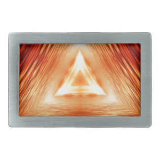 Triangles of fire rectangular belt buckles