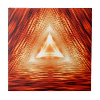 Triangles of fire tile