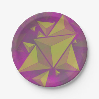 triangles paper plate