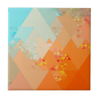 Triangles Pattern Color Tile