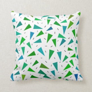 Triangles pattern throw pillow