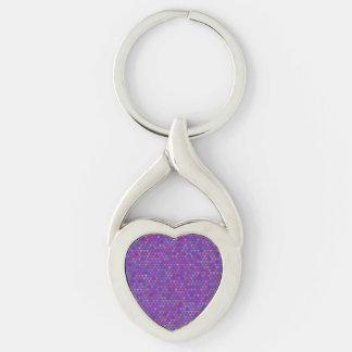 Triangles - Purple (3) Keychain