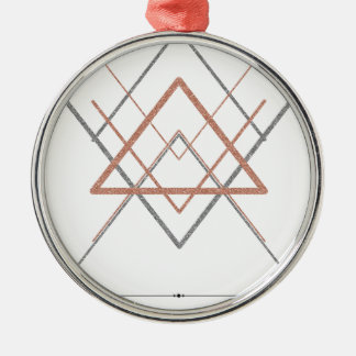 Triangles Rose Gold Silver Metal Ornament