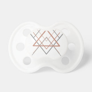 Triangles Rose Gold Silver Pacifier