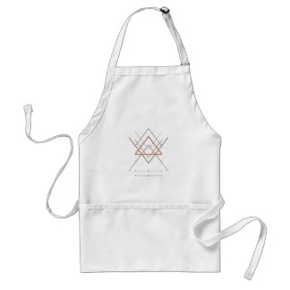 Triangles Rose Gold Silver Standard Apron