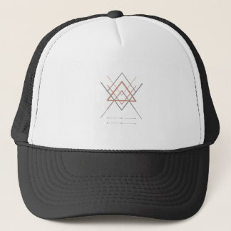 Triangles Rose Gold Silver Trucker Hat