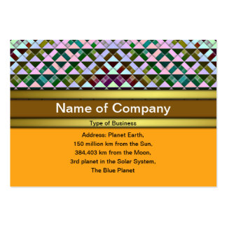 Triangles Rotated Inverted Business Card Templates