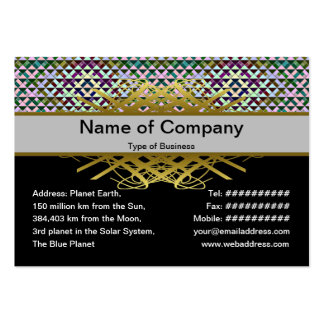 Triangles Rotated Inverted Small Large Business Cards (Pack Of 100)