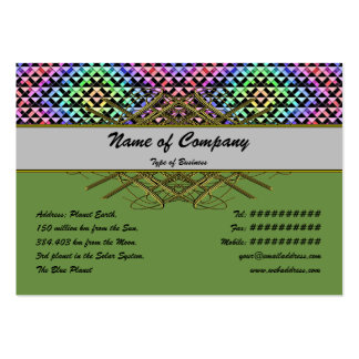 Triangles Rotated Small Business Card