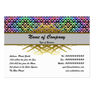 Triangles Rotated Small Large Business Card