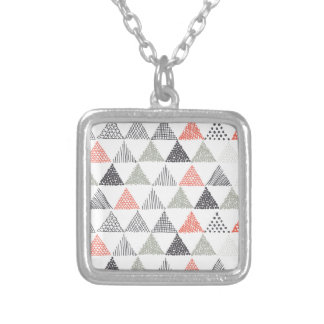 Triangles Silver Plated Necklace