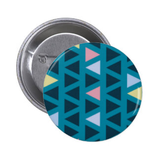 Triangles With Blue and Pink Love 2 Inch Round Button
