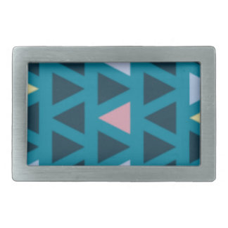 Triangles With Blue and Pink Love Belt Buckles