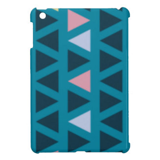 Triangles With Blue and Pink Love Case For The iPad Mini