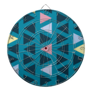 Triangles With Blue and Pink Love Dartboard