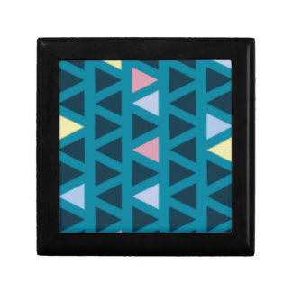Triangles With Blue and Pink Love Gift Box