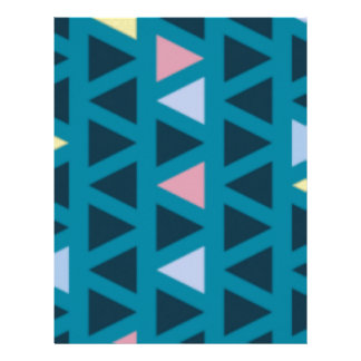 Triangles With Blue and Pink Love Letterhead