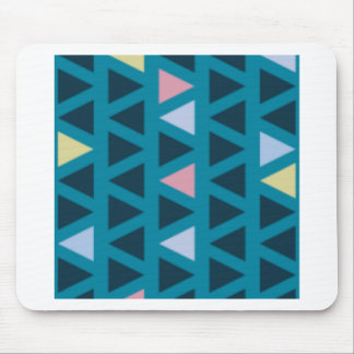 Triangles With Blue and Pink Love Mouse Pad