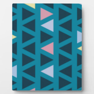 Triangles With Blue and Pink Love Plaque