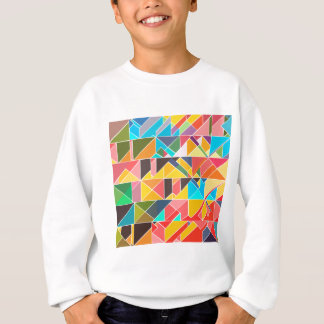 Triangular Abstract Design Sweatshirt