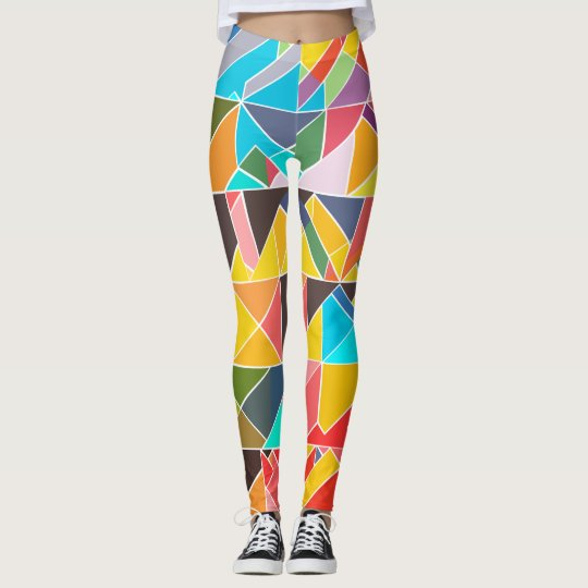 Triangular Abstract Leggings