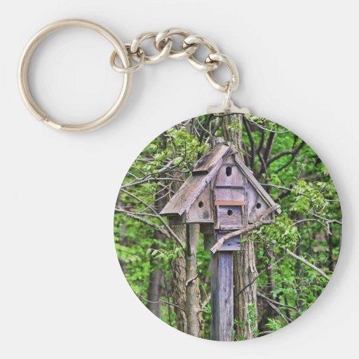 Triangular Birdhouse Keychain