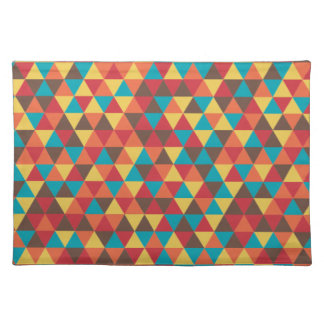 Triangular colorful placemat