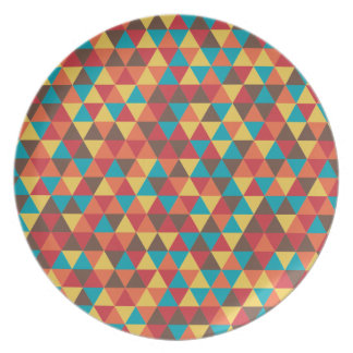Triangular colorful plate
