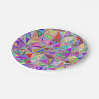 Triangular happiness 7 inch paper plate