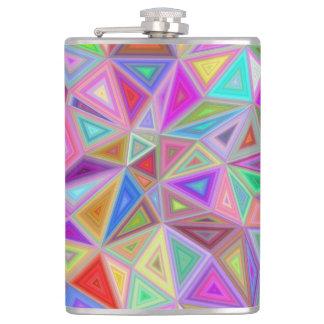 Triangular happiness flask